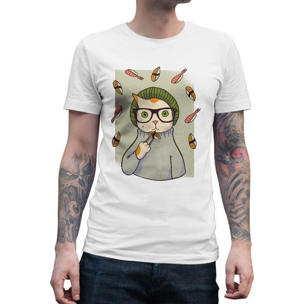 Immagine di Maglietta Uomo Hipster Sushi Cat