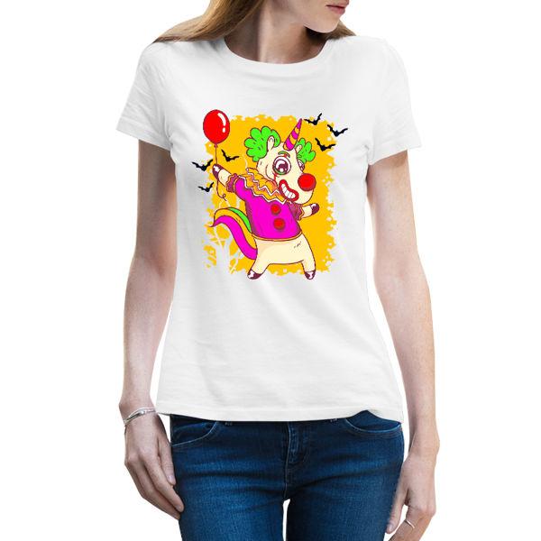 Immagine di Maglietta Donna Clown Unicorno