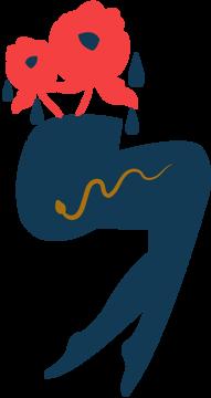 Immagine di Gambe e fiori