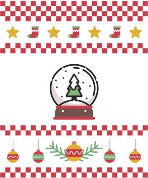 Immagine di decorazioni natalizie
