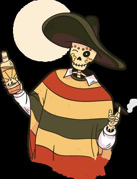 Immagine di   scheletro messicano