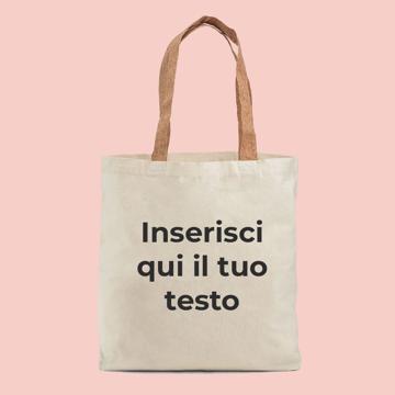 Immagine di Shopper Manici in sughero personalizzata