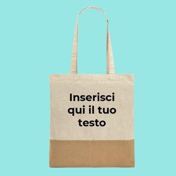 Immagine di Shopper In Iuta Personalizzata