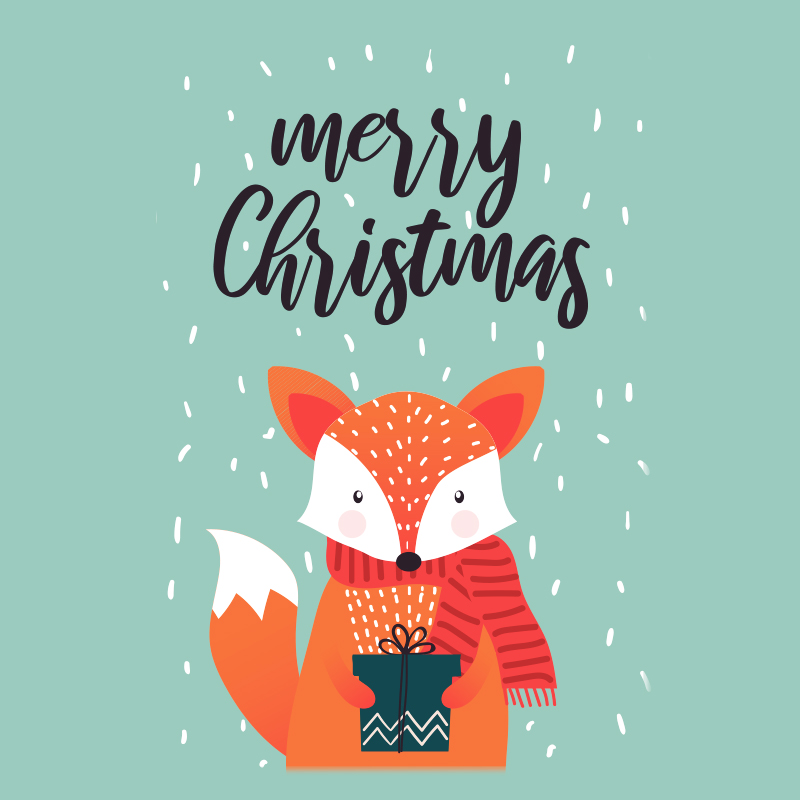 Fox Merry Christmas