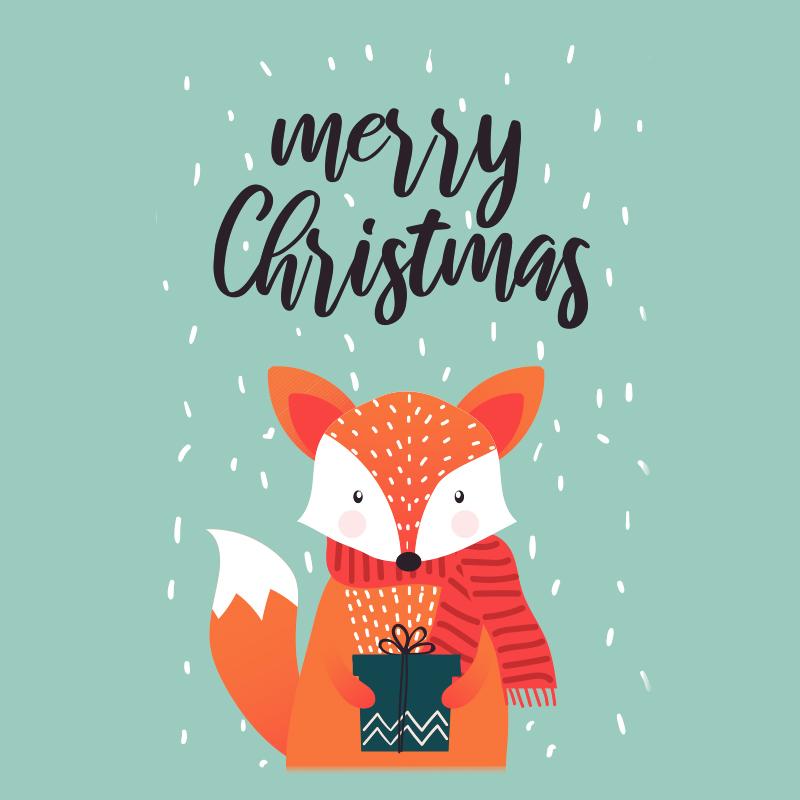 Fox Merry Christmas