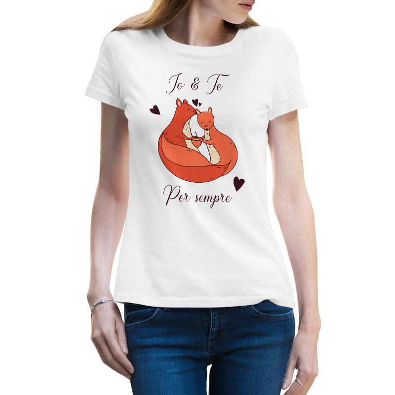 Immagine di Maglietta Donna Scoiattoli Innamorati