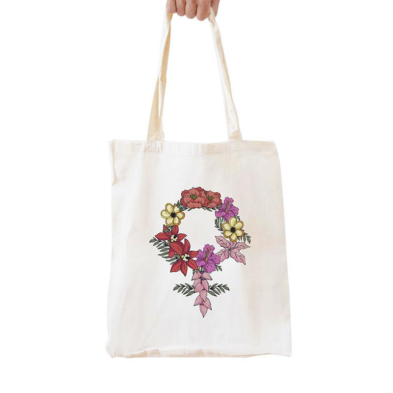 Immagine di Shopper Simbolo femminile di fiori